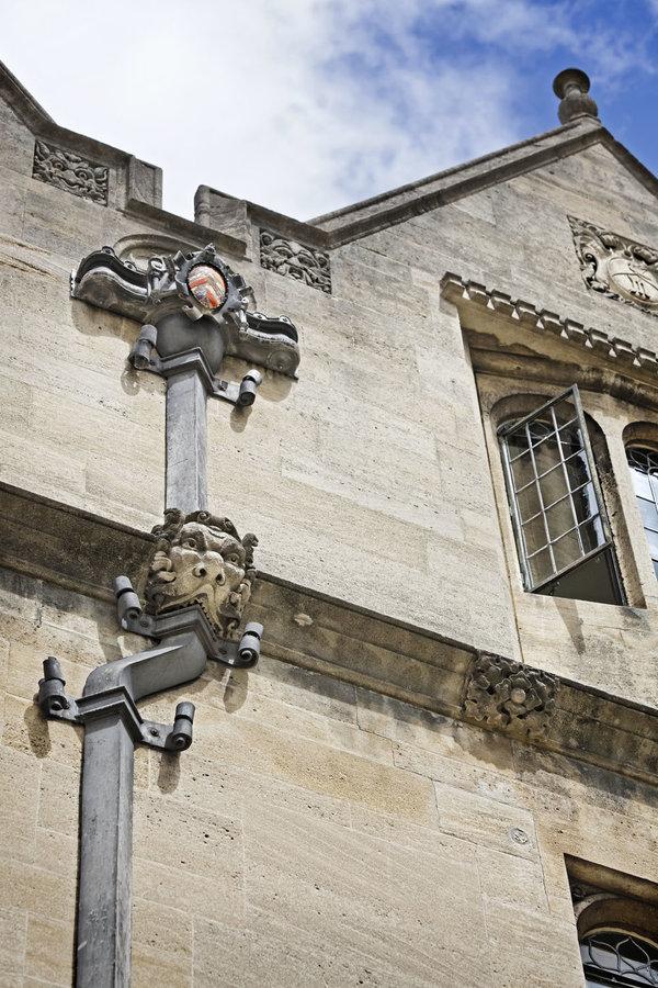 Drainpipe with Gargoyle at Merton College, Oxford