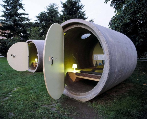 A Hotel Made from Giant Drainpipes