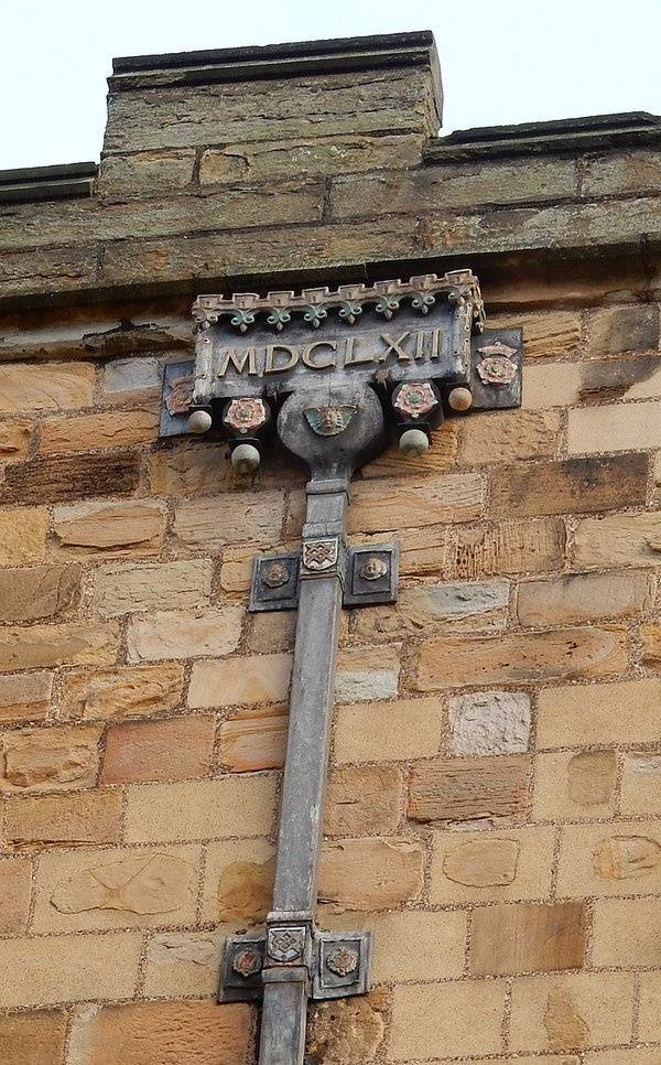 Durham Castle Drainpipe Dated 1662
